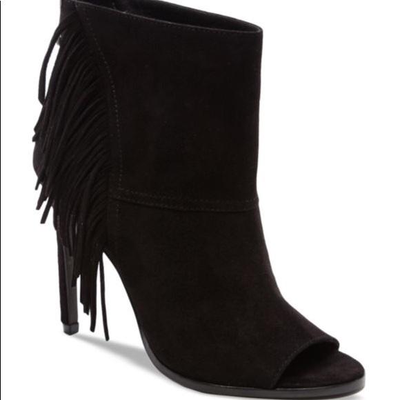 Dolce Vita Shoes Fringe Open Toe High Heel Booties Poshmark